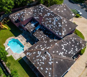 Storm damage hail repair roof in Brownsville
